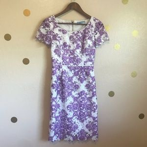 Antonio Melani Purple Lace Dress